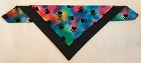 Black Multicolored Tye Dye Pet Scarf