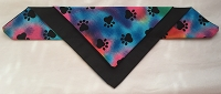 Tie die with black paw prints background-2