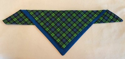 Tartan Blue and Green Plad front Pet Scaruff